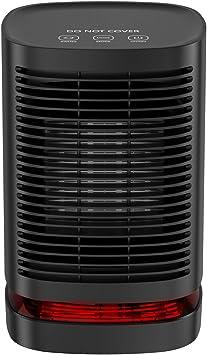 Uvistare Calefactor Eléctrico Portátil Calentador 950W Calefactor de Aire Caliente Termoventila...