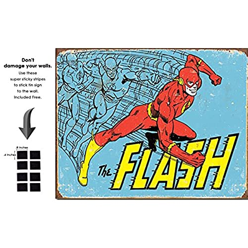 Exceptional Shop72 DC Comic Serise The Flash Metal Tin Sign Super Hero Retro Vintage Decor  Home     With Sticky Stripes . No Damage To Walls