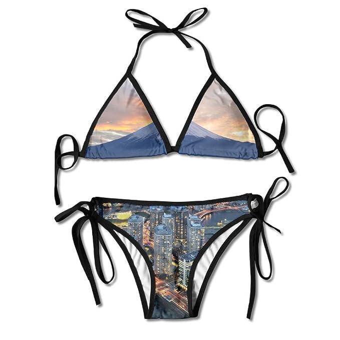 9cb9e139f539f Amazon.com: ALEISIN Cool MT. Fuji Overlooking Yokohama Bikini ...