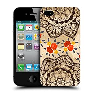 Head Case Designs Cream Doodle Doilies Hard Back Case Cover for Apple iPhone 4 4S