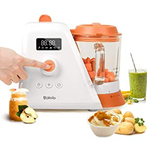 BOLOLO Baby Food Maker,8 in 1 Baby Food Processor Blender Grinder Steamer Warmer, Auto Cleaning,Organic Healthy Multifunctional Mills Machine for Infants and Toddlers Purees