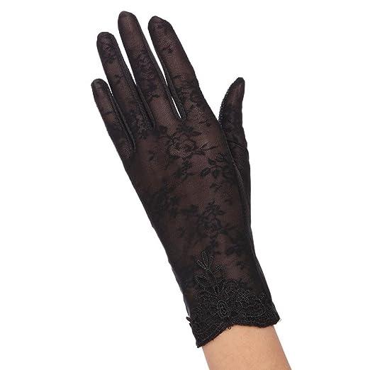 65443f846 Elevin(TM) Women Sexy Etiquette Nightclub Glove Wedding Bridal Gloves Satin  Dance Lace Glove