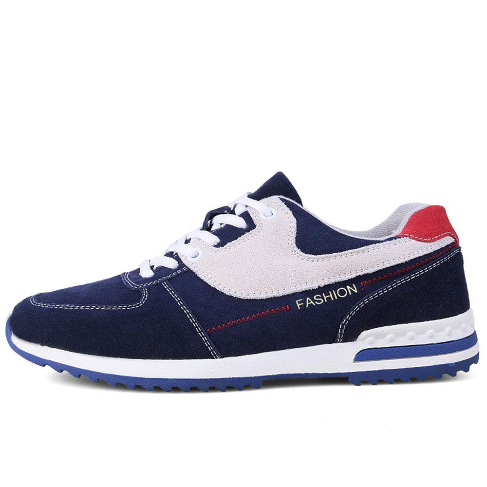 bluee shoes Men's Leather Comfort Wear-Resistant Sports Low Help Size 24.0cm-27.0cm bluee shoes Leisure