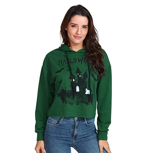 fe17af3f55a734 Amazon.com  Ankola Halloween Cropped Hoodies