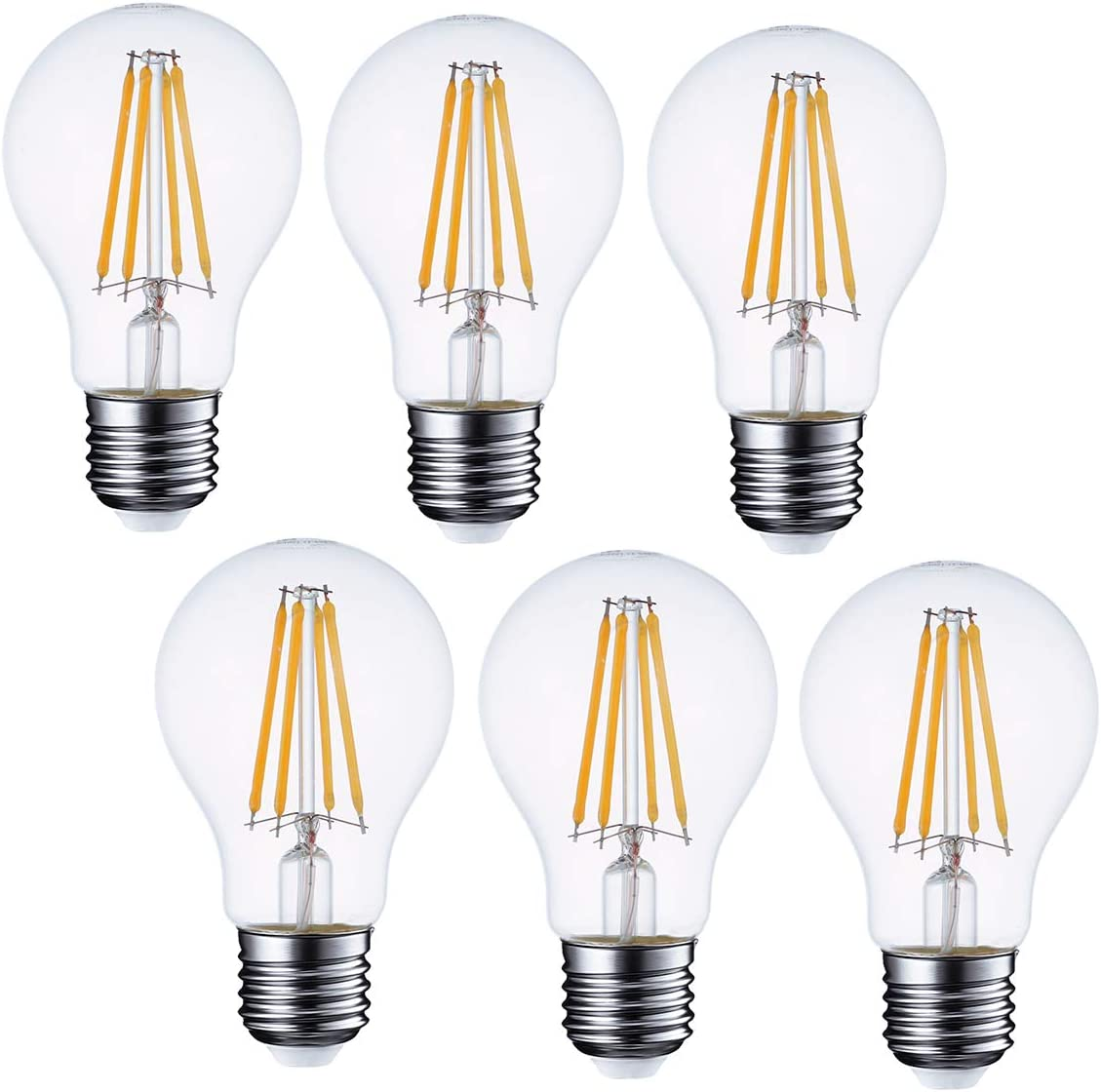 120V E26 Vintage LED Smart Bulb GMY Smart Light Bulb WiFi Dimmable A19 Smart Bulbs Compatible with Alexa 40W Equivalent Soft White No Hub Required 2200K-5000K 2-Pack Google Home Assistant