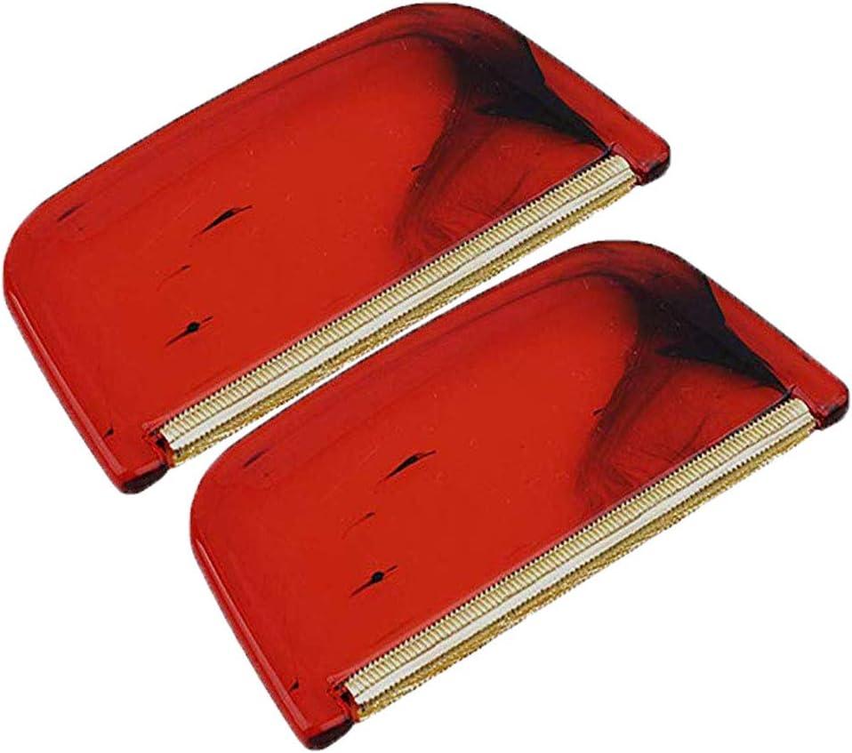Rouge 2 Pi/èces Peigne En Cachemire Peigne /à Peluches En Plastique Rideaux Tapis Peigne En Cachemire Pour Peluches Et Peluches de Pulls Couvertures Peigne En Laine Peigne Mohair