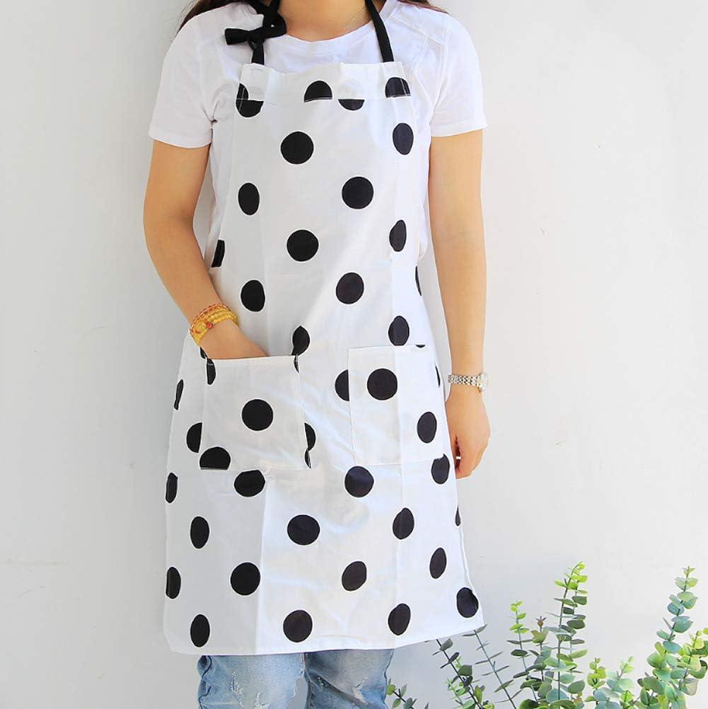 de Lona para cocinar Dos Bolsillos Asar y Hornear Doble Impermeable Dusenly Delantal para Mujer