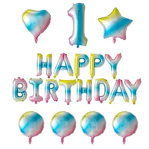 Happy Birthday Globos Foil Globo 1 Cumpleaños Decoración ...