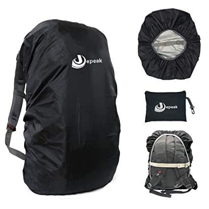 Jepeak Waterproof Backpack Rain Cover, 25L-35L Daypack Rainproof Dustproof  Protector Raincover (Elastic 78d4db5f5d