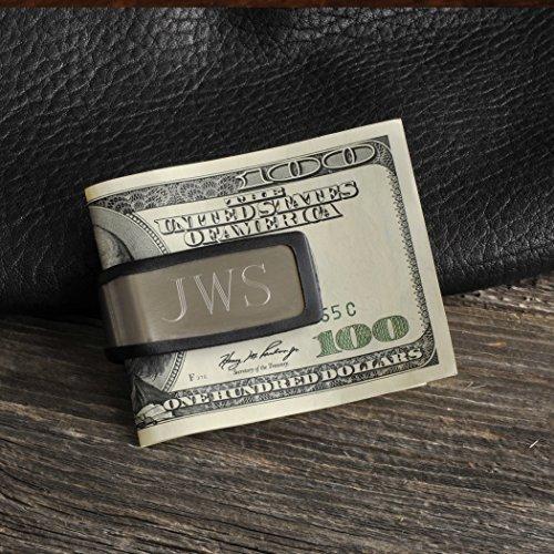 Personalized Engraved Aluminum, Rubber Grip Money Clip