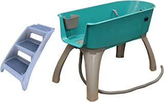 product image for Booster Bath Elevated Pet Bathing X-Large with Step Combo (Combo), Teal, Model:BB-XL-Step