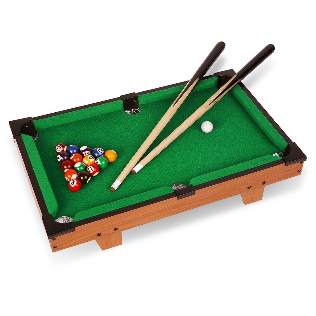 Virhuck Mini Table Top Pool Table Game Billiard Table Set With Balls, Cue, Chalk, Billiard Table