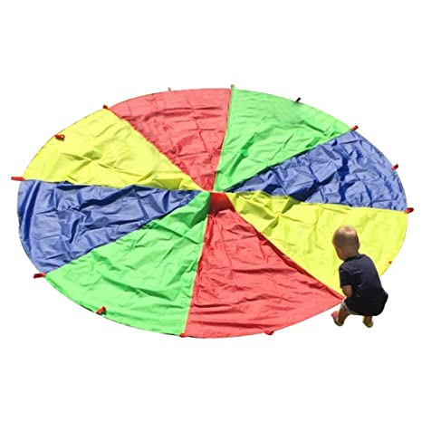 HAPPYMATY Arco Iris al Aire Libre Paraguas Paracaídas de ...