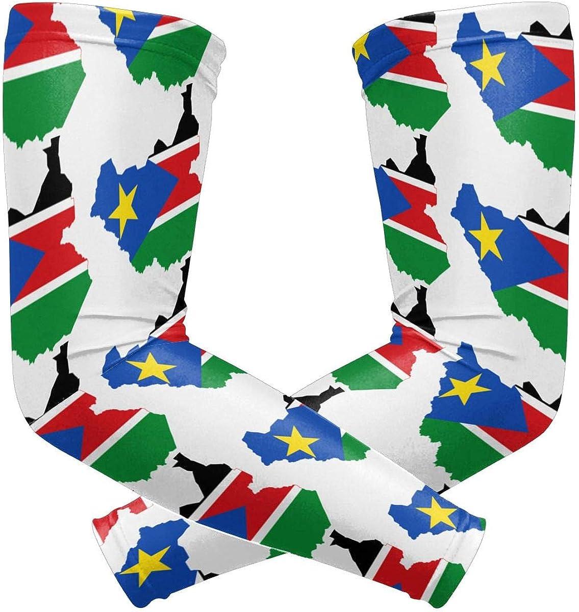 Flag Map Of South Sudan...