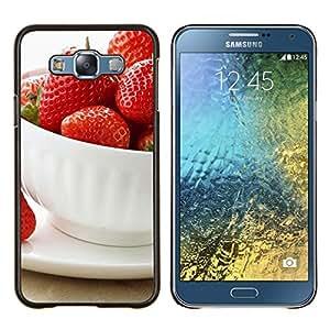 For Samsung Galaxy E7 E700 Case , Naturaleza Hermosa Forrest Verde 57- Diseño Patrón Teléfono Caso Cubierta Case Bumper Duro Protección Case Cover Funda