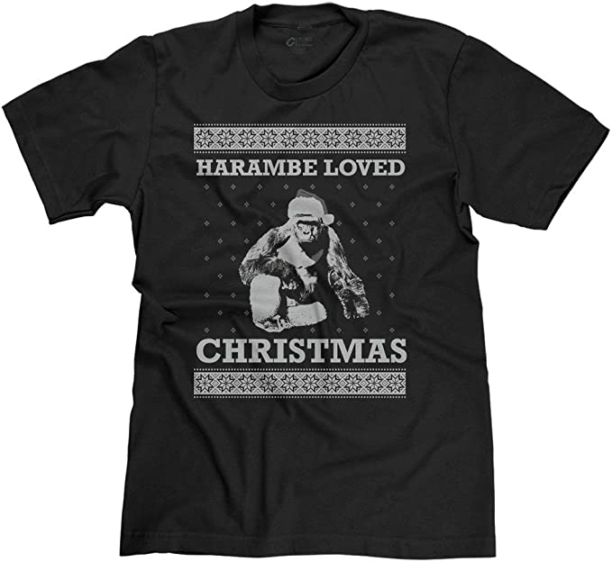 FreshRags Harambe Loved Christmas Ugly Sweater Funny Men's T Shirt