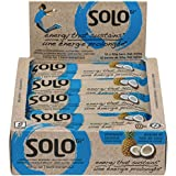 SoLo Gi Energy Bar Pineapple Coconut Gluten Free Low Glycemic with 11 grams of Protein, 1.76oz (50g) (1 Box of 12 Bars)