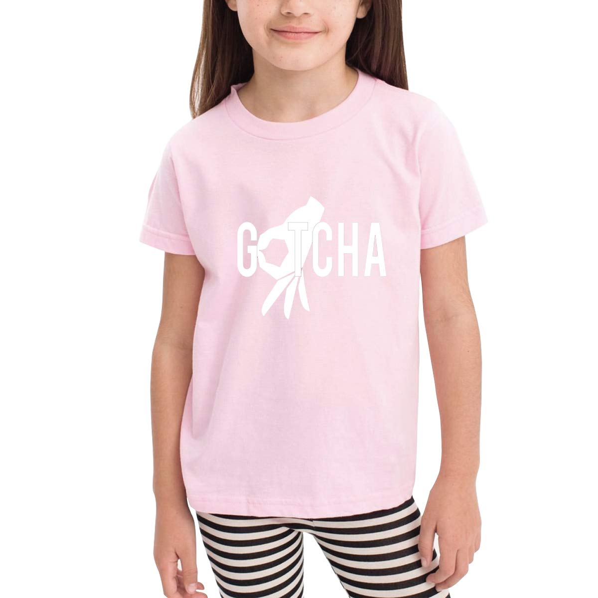 Gotcha Finger Unisex Youths Short Sleeve T-Shirt Kids T-Shirt Tops Black