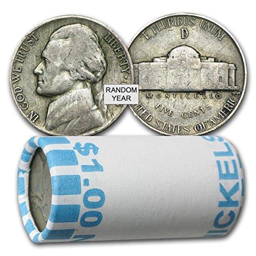 1942-1945 35% Silver War Nickels $1 Face Value Avg Circ Nickel Very Good