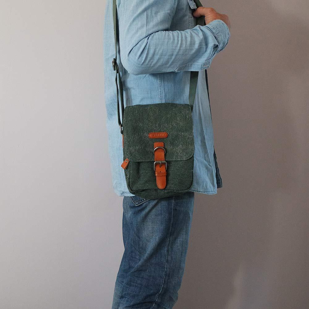 7eadc2a5c3 Chapeau-tendance - Sacoche bandoulière kaki KATANA - - Homme: Amazon.fr:  Chaussures et Sacs