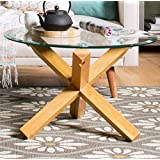 Sophisticated Wooden Metal Contemporary Retro Style
