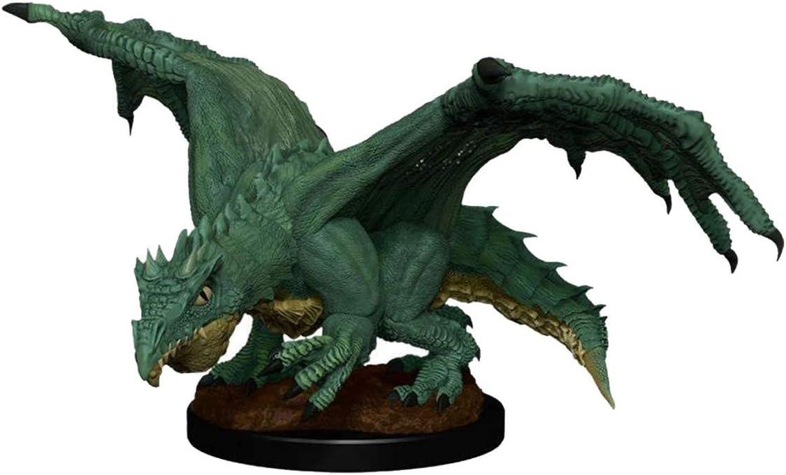 Dungeons /& Dragons Nolzur`s W11 Green Dragon Wyrmling /& Afflicted Elf