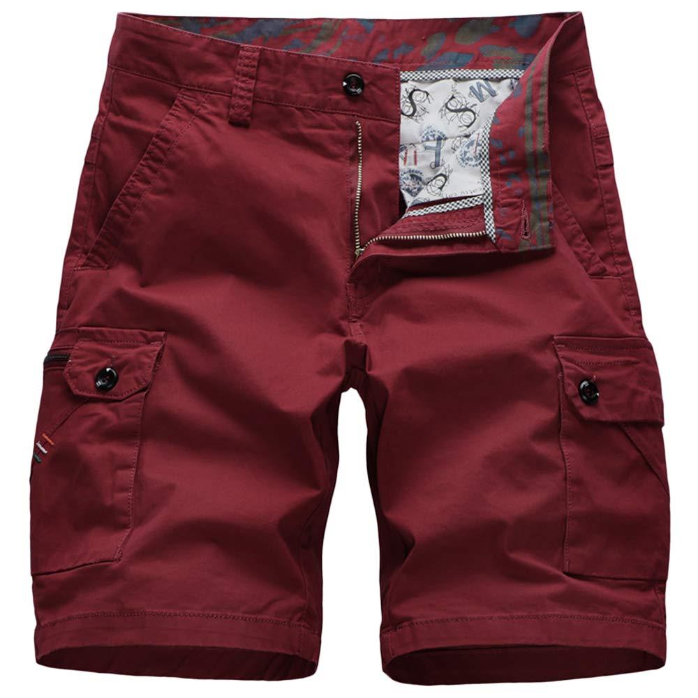 GBRALX Herren-Shorts mit Mehreren Taschen im militärischen Stil, leichte Strand-Shorts, Training im Fitnessstudio, Frachtkampf-Shorts, Urlaubs-Surf-Shorts, lässige Strand-Shorts