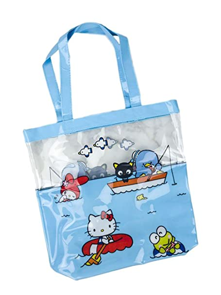 c3491c4f37 Amazon.com  Sanrio Hello Kitty Beach Tote Bag - Loot Crate Exclusive   Clothing