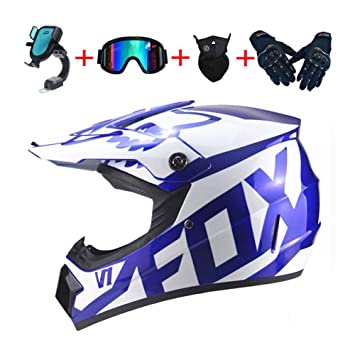 19b7f222bc LEENY Cascos de Motocross - Adulto Cascos de Cross de Motos Sets con Gafas/ Máscara