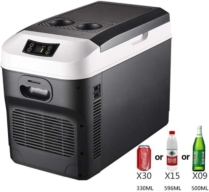 HXCLYQ Nevera Portátil Eléctrica con Compresor (28litros) - Mini Congelador Frigorífico Pequeño, Funciona con CA O CC - Nevera Rígida,para Coche Camión Camper Viaje (28 litros)