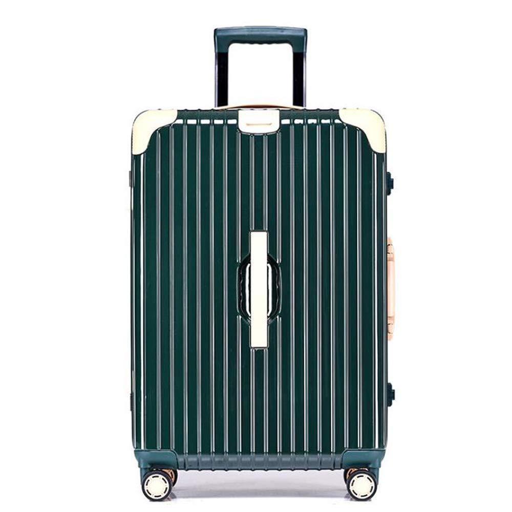 スーツケーストロリー手持ちのキャビン荷物ハードシェルトラベルバッグ軽量4スピナーホイール46*27*65CM B07SRZFRWV Green