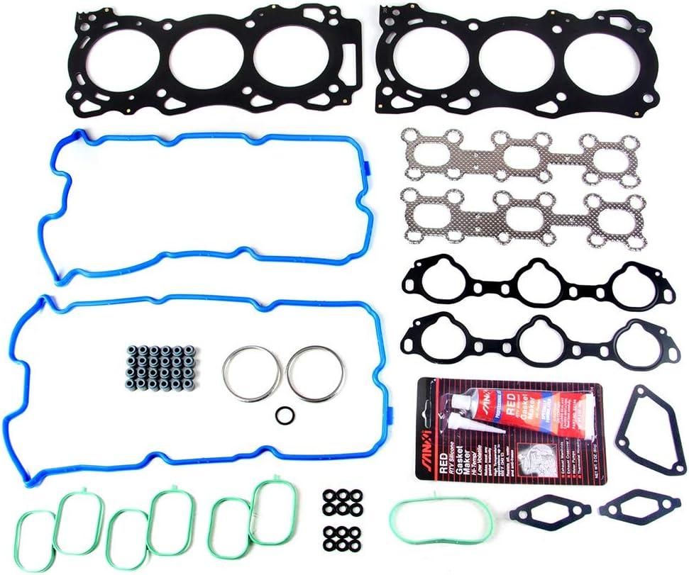 ROADFAR Head Gasket Bolts Set Kit for Nissan Frontier NV1500 NV2500 Pathfinder Xterra Suzuki Equator 4L VIN 2 U 05 06 07 08 09 10 11 12 13