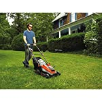 "BLACK+DECKER 40V MAX Cordless Lawn Mower, 16-Inch (CM1640) 11 Height Adjust- 6 settings, with a height of cut between 1-1/10"" and 3-1/10"" Includes (2) 40V Max Lithium Batteries Folding handles for easy & convenient storage"