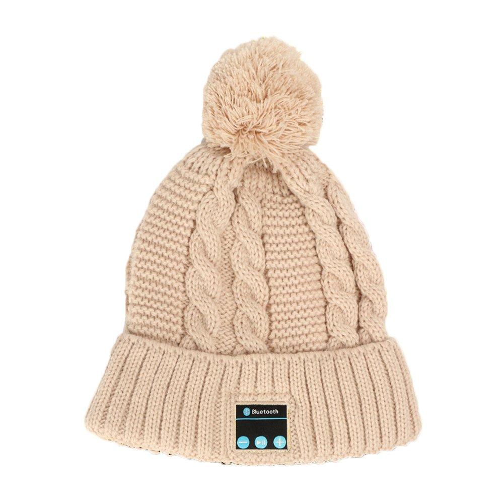 Warm Wireless Stereo Bluetooth Beanie Hat Cap Headset Musical Knit Headphone Speaker