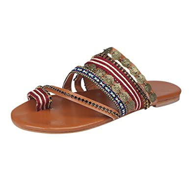 ZODOF Chanclas Mujer Verano,Las Mujeres Gruesas de Fondo Inclinado Zapatillas Sandalias de tacón Alto Zapatos de Plataforma: Amazon.es: Ropa y accesorios