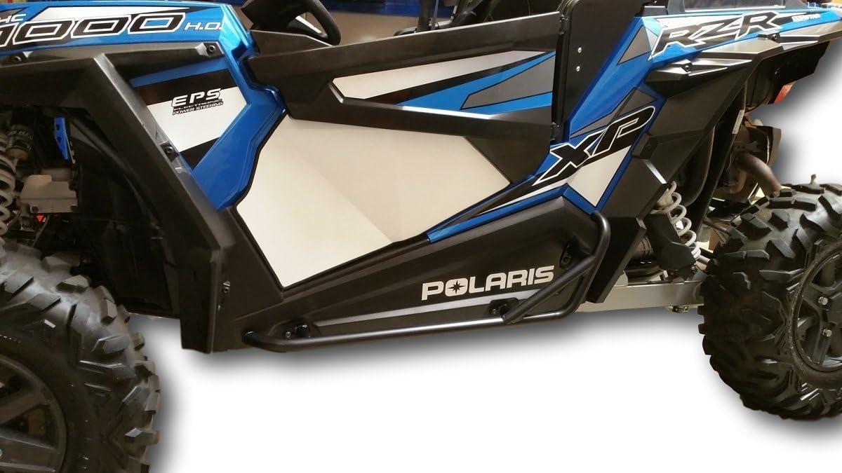 Allied Powersports Steel Side Nerf Bar for Polaris RZR 900 1000 XP Turbo 2015-19 Red