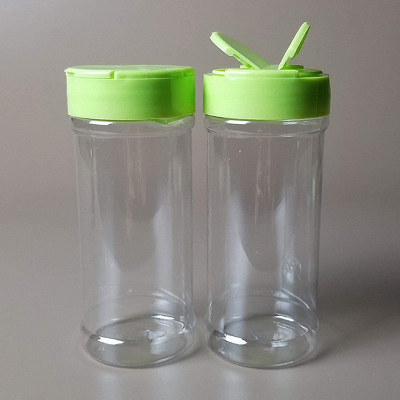 12pcs 200ml en plastique /à double ouverture vide /épice poivre bouteilles de sel pour la cuisine maison restaurant table /à manger r/éfectoire vert Migavenn