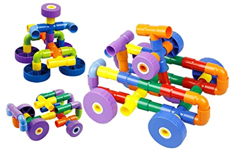 91a79f3bb4e4 cossy STEM Learning Toy Engineering Construction Building Blocks 208 Pieces  Kids Educational Toy for Boys and ...