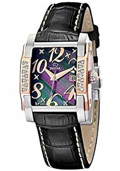 Jaguar j648/4 - Reloj de señora, acero, esfera nacar, correa en piel: Jaguar: Amazon.es: Relojes