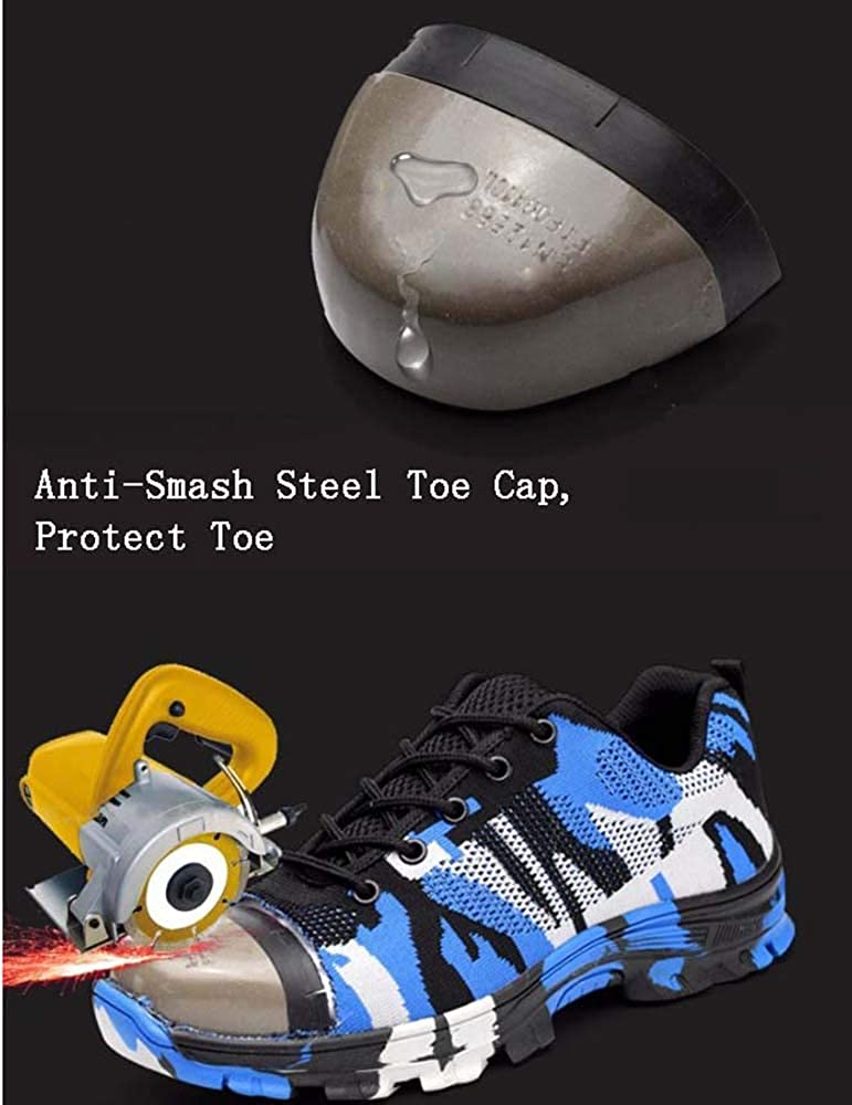 Camouflage Safety Shoes//Work Shoes Anti-Smash Steel Toe Cap For Men//Women,Steel Toe Cap Protect Toe