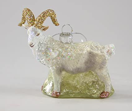 cody foster christmas ornament figure mountain goat hand blown glass 325