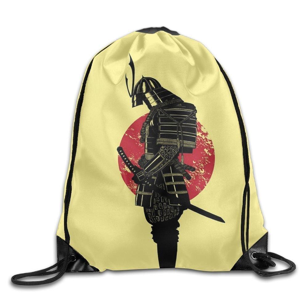 Samurai Illustrationen Unisex Outdoor Rucksack Shoulder Bag Travel Drawstring Backpack Bag