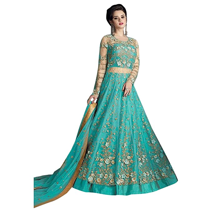 Amazon.com: Anarkali - Traje largo para mujer, diseño de ...