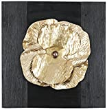 HobbitHoleCo 20.75-Inch by 20.5-Inch Mixed Media Metal Art Décor, Sam O., Golden Metal Floral