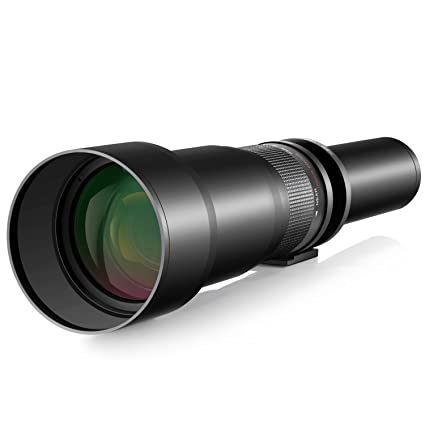 Neewer - 650 - 1300 mm f/8 zoom Teleobjetivo Lente para Canon EOS 7d ...