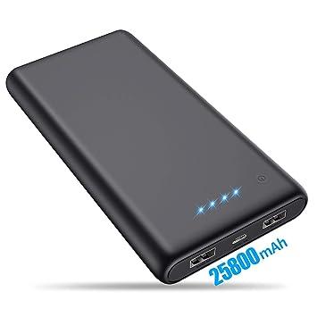 VOOE Batería Externa 25800mAh [Versión Mejorada] Power Bank Ultra Capacidad Cargador Portátil Móvil con 2 Puertos USB y Luces LED Power Bank Alta ...