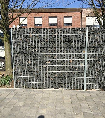 Gabione verzinkt 1030mm Steinkorb Steinzaun Gabione Zaun Sichtschutz Trennwand