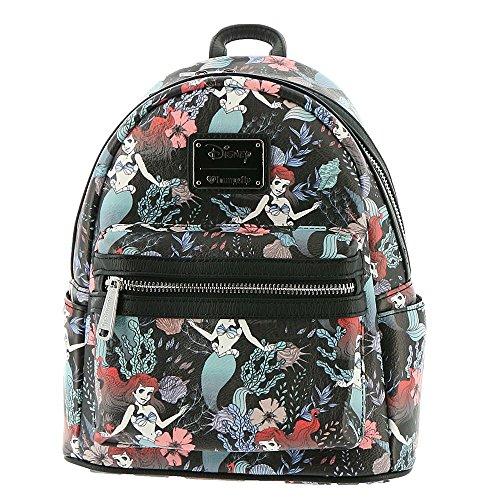 Loungefly x Disney Little Mermaid Ariel Mini Backpack Black]()