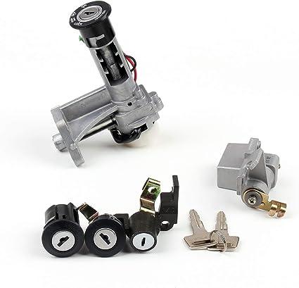 Interruptor de Encendido con y Llaves Ignition Switch Lock para SUZU-KI GW250 Inazuma 14-17 GSXR250 13-17 Artudatech Moto Interruptor de Arranque Set