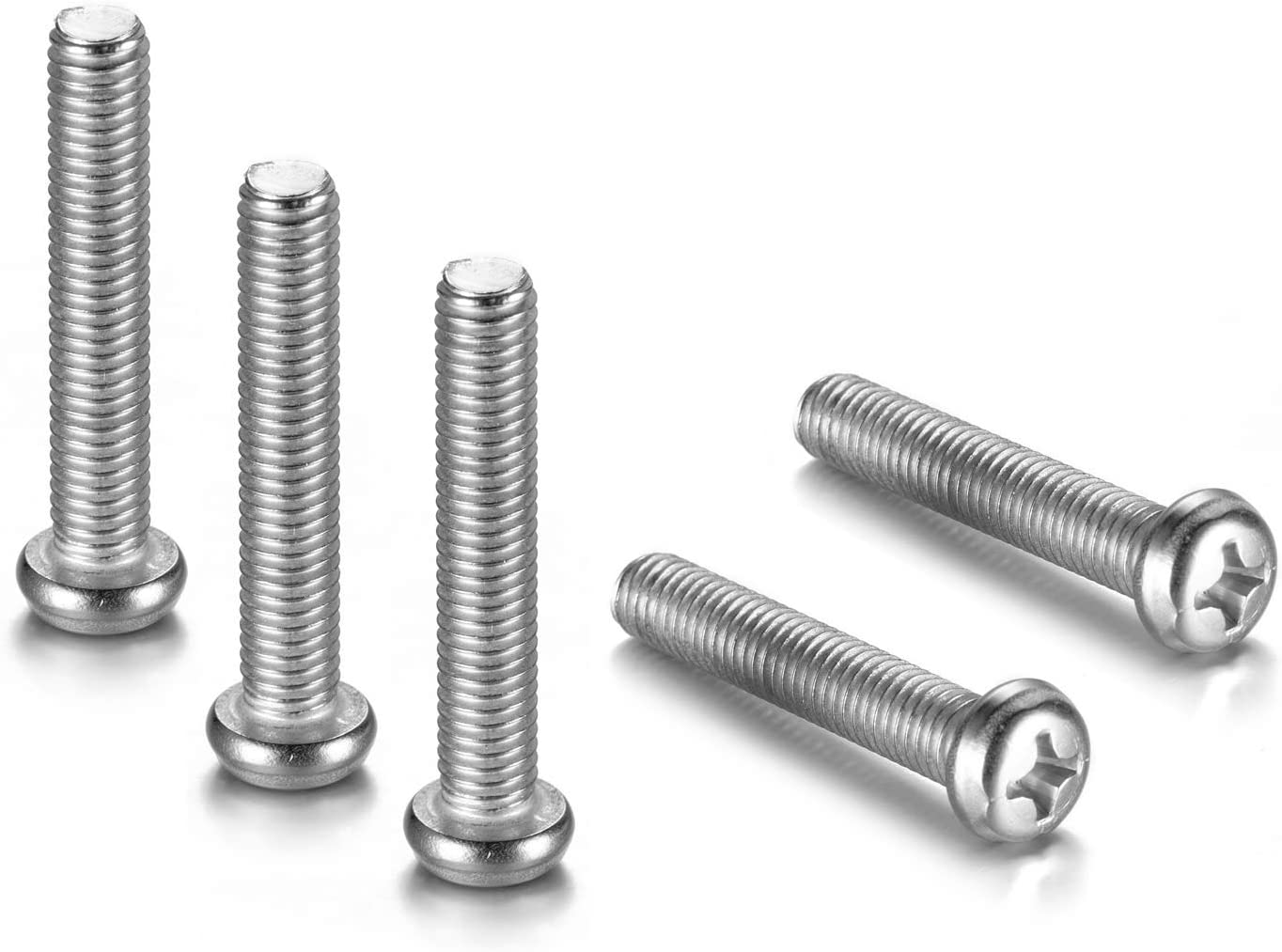 Wall Mounting Screws for Samsung TV - M8 x 45mm with Pitch 1.25mm Solid Screw Bolts for Samsung TV Wall Mounting, Work with Samsung 7, 8 Series TV